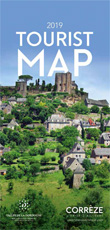 Correze - Dordogne valley Tourist Map 2019